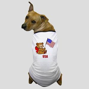 USA Teddy Bear Dog T-Shirt