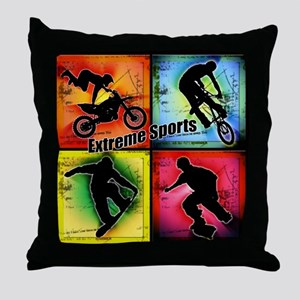 Extreme Sports Throw Pillow