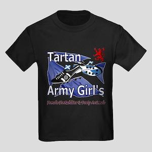 Tartan Army Girls Scotland Women's Dark T-Shirt