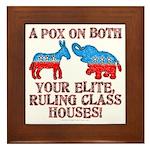 A Pox on Both... Framed Tile