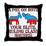 A Pox on Both... Throw Pillow