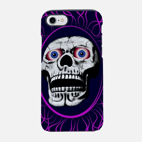 Skull with flames around iPhone 8/7 Tough Case