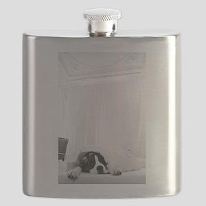 dog sleeping in bed Flask