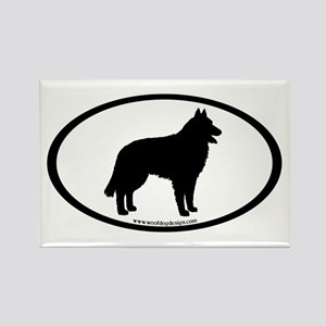 Belgian Sheepdog Rectangle Magnet