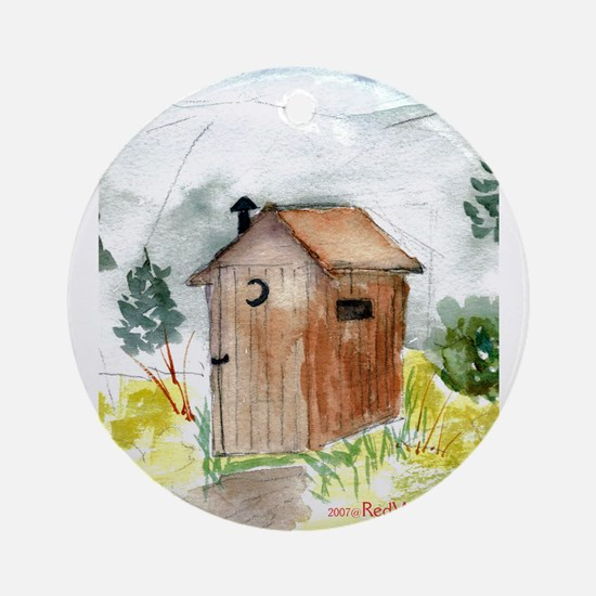 Outhouse Ornament (Round)