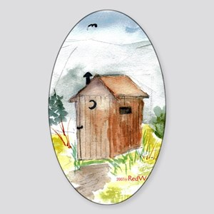 Outhouse Oval Sticker