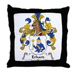 Erhard Family Crest Throw Pillow