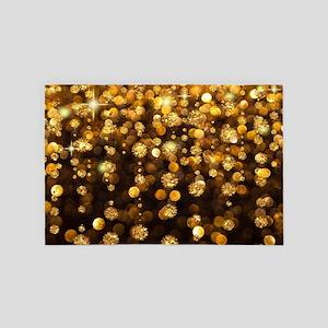 Gold Sparkles 4' x 6' Rug