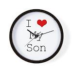 I Heart My Son Wall Clock