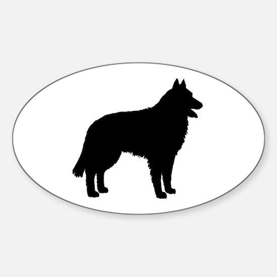 Belgian Sheepdog Oval Decal