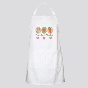 Peace Love Veggies Vegan BBQ Apron