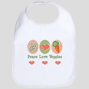 Peace Love Veggies Vegan Bib