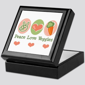 Peace Love Veggies Vegan Keepsake Box