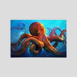 Octopus 4' x 6' Rug