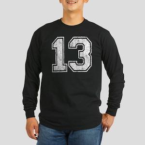 Retro 13 Number Long Sleeve Dark T-Shirt