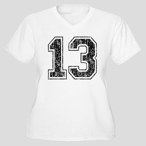 Retro 13 Number Women's Plus Size V-Neck T-Shirt