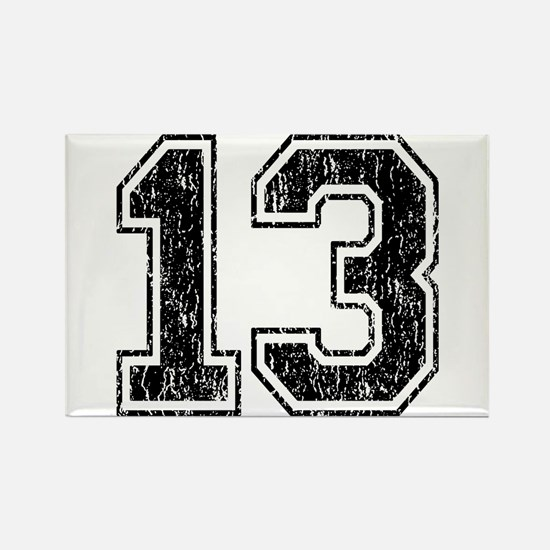 Retro 13 Number Rectangle Magnet