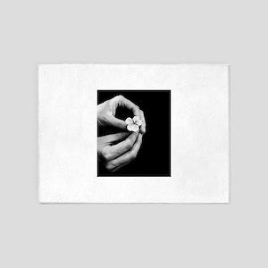 gently-handled-flower 5'x7'Area Rug