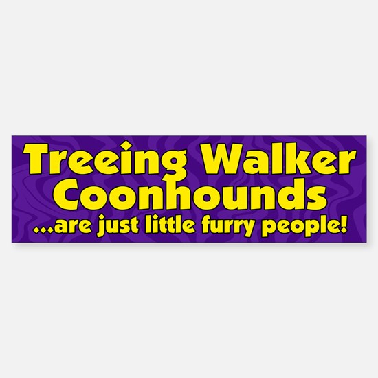 Frry Ppl Treeing Walker Coonhound Bumper Bumper Bumper Sticker