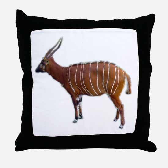 bongo cutout Throw Pillow