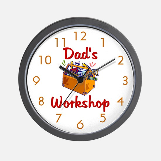 Dad's Workshop Wall Clock