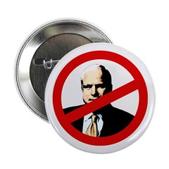 Political Button Against John McCain '08