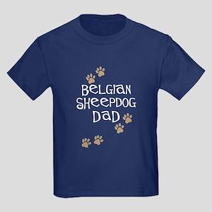 Belgian Sheepdog Dad Kids Dark T-Shirt