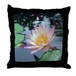 Tropical Pink Water Lily-L - Throw Pillow