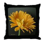 Yellow Gerber Daisy Throw Pillow
