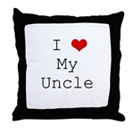 I Heart My Uncle Throw Pillow