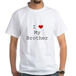 I Heart My Brother White T-Shirt
