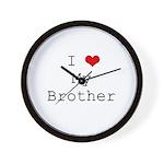 I Heart My Brother Wall Clock