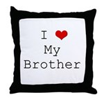 I Heart My Brother Throw Pillow