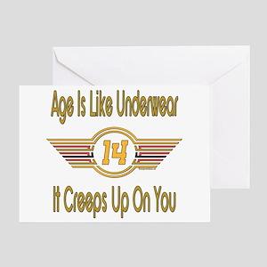 Funny 14th Birthday Greeting Card