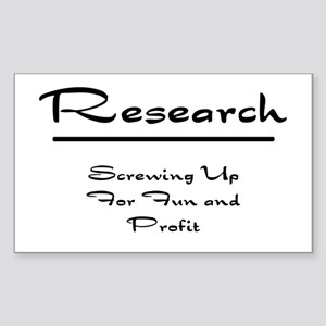 Research Humor Sticker (Rectangle)
