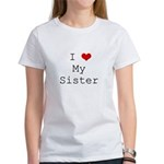 I Heart My Sister Women's T-Shirt