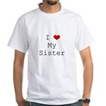 I Heart My Sister White T-Shirt