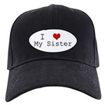 I Heart My Sister Black Cap