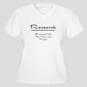Research Humor Women's Plus Size V-Neck T-Shirt