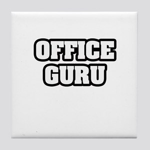 """Office Guru"" Tile Coaster"