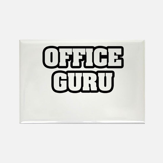 """Office Guru"" Rectangle Magnet"