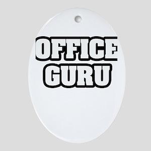 """Office Guru"" Oval Ornament"