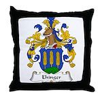 Ehinger Family Crest Throw Pillow