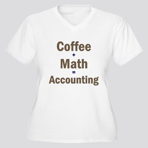 Coffee + Math = Accounting Women's Plus Size V-Nec