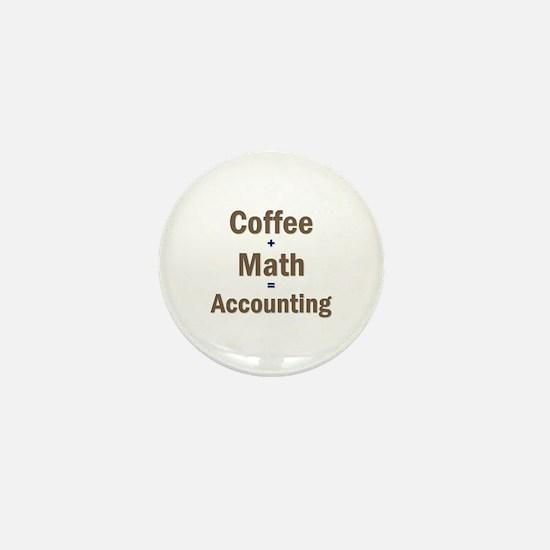 Coffee + Math = Accounting Mini Button