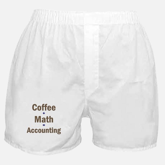 Coffee + Math = Accounting Boxer Shorts