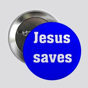 Jesus saves witness button