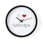 I Heart My Grandpa Wall Clock