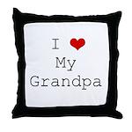 I Heart My Grandpa Throw Pillow