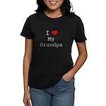 I Heart My Grandpa Women's Dark T-Shirt
